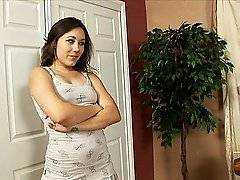 Two hot dames flirt in the bedroom and start to get horny