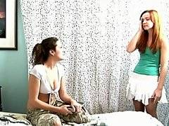 Annabelle Lee scolds Elexis Monroe when she catches her reading her diary in the bedroom